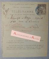 Paul-Armand CHALLEMEL LACOUR Ancien Président Sénat Né à Avranches - Télégramme Lettre Autographe Télégraphe MAZE L.A.S - Autographes