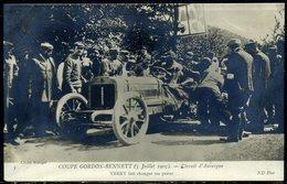 Cpa  Auvergne Coupe Gordon Bennett 1905  Théry Change De Pneus,   Beau Plan - France
