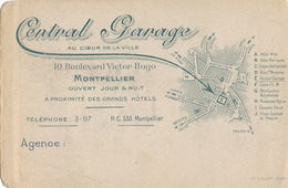 MONTPELLIER - CENTRAL GARAGE - 10 BOULEVARD VICTOR HUGO - Cartes De Visite