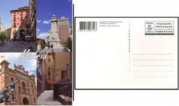 ESPAÑA SPAIN ESPAGNE CORREOS TURÍSTICA 2012 MADRID VISTAS VERTICALES TARIFA B TARJETA ENTERO POSTAL CARD PREFRANQUEADA - Enteros Postales