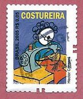 BRASILE USATO 2005 - PROFESSIONI - Costureira - Sarta - 0,05 R$ - Michel BR 3436C Con Dentellatura Br - Brasile