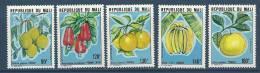 """Mali YT 376 à 380 """" Fruits """" 1980 Neuf** - Mali (1959-...)"""