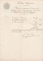 VP 1 FEUILLE - ETAT DES FRAIS DE L'HOSPICE DE MEXIMIEUX - Manuscrits