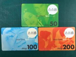 MACAU - SMARTONE RECHARGE VOUCHER CARD WITH 3 DIFFERENT VALUE - Macau