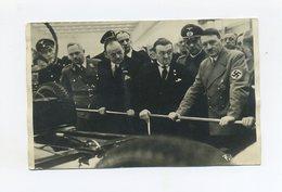 1939 3. Reich Fotokarte Adolf Hitler Und Gefolge Vor Fahrzeug Auf Der IAA Berlin Echt Gelaufen Mi 686 Verlag Menzendorf - Briefe U. Dokumente