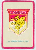 "Carte Miroir Sprint ""SHOOT"" : N°104 : Ecusson: A.S. CANNES (4,5 X 7cm) - Trading Cards"