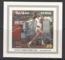 2000 Syria Sydney Olympics Javelin Thrower Set Of 1 MNH - Siria