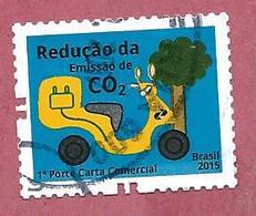 BRASILE USATO 2015 - SOSTENIBILITA - Reducing CO2 Emissions - 1° St. No Facciale - Michel BR 4245 - Brasile