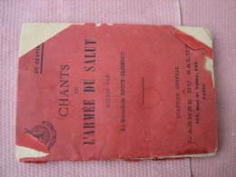 ARMEE Du SALUT Livret De Chants ( An Estimée 1888 ) Par Mme La Maréchale Both-Clibborn - Organisations