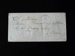ENVELOPPE AU DEPART DE THONON AVEC CACHET CIRE - 1849-1876: Période Classique