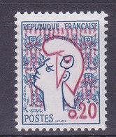 Marianne De Cocteau N° 1282, Rouge Fortement Décalé Vers Le Haut, Voir Le Bonnet ( 1812/9.1) - Varieties: 1960-69 Mint/hinged