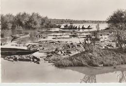 C.P.A. - PHOTO - BAMAKO - DÉPART POUR LA PÈCHE - 58 - PIROGUES - Mali