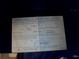 Vieux Papier Carte Fascicule Ordre De Mobilisation Dun Chef De Gare SNCF Strasbourg Chateu Salins Annee 1956 - Cartes
