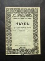 Musica Spartiti - Philarmonia No. 38 - J. Haydn - Symphonie XVIII - Fis Moll - Vecchi Documenti