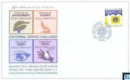 Sri Lanka Stamps 2016, Lions Clubs International, FDC - Sri Lanka (Ceylon) (1948-...)