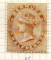 AMERIQUE DU NORD - BERMUDES - (Colonie Britannique) - 1880 - N° 15 - 1/2 P. Bistre-brun - (Victoria) - Bermuda
