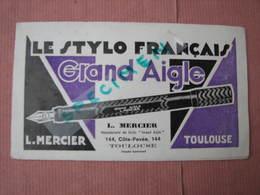 """Le Stylo Français"""" Grand Aigle"""" 1934 Trés Beau Catalogue L. Mercier Toulouse - Pens"""