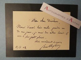 J.M.G.G Du CHAYLARD - 1902 - Fut Consul De TIENTSIN - Né à Siorac Dordogne Carte Lettre Autographe L.A.S Chine Tien-Tsin - Autographes