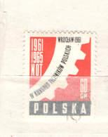 Polonia PO 1961 Congresso Ingegneri  Scott.973+See Scan On Schaubek Page; - 1944-.... Repubblica