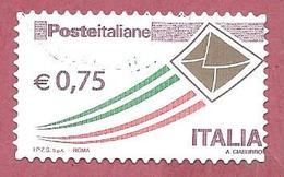 ITALIA REPUBBLICA USATO - 2011 - Posta Italiana - Ordinaria - € 0,75 - S. 3102A - 6. 1946-.. Republic