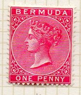 AMERIQUE DU NORD - BERMUDES - (Colonie Britannique) - 1884-93 - N° 18 - 1 P. Rouge Carminé - (Victoria) - Bermuda