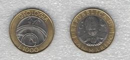 1000 Lire 1998 Geologia San Marino Bimetallica - San Marino