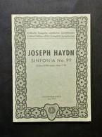 Musica Spartiti - Philarmonia No. 799 - J. Haydn - Sinfonia No. 99 - Es-dur - Vecchi Documenti