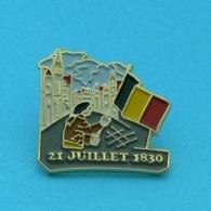 1 PIN'S //  ** FÊTE NATIONALE BELGE / 21 JUILLET 1830 ** - Army