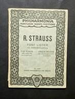 Musica Spartiti - Philarmonia No. 246 - R. Strauss - Fünf Lieder - Orchestra - Vecchi Documenti