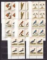 1989 Vaticano Vatican UCCELLI  BIRDS 4 Serie Di 8v. Quartina MNH** Bl.4 - Oiseaux