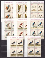 1989 Vaticano Vatican UCCELLI  BIRDS 4 Serie Di 8v. Quartina MNH** Bl.4 - Non Classificati