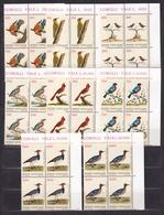 1989 Vaticano Vatican UCCELLI  BIRDS 4 Serie Di 8v. Quartina MNH** Bl.4 - Vaticano