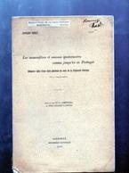 1910 Les Mammiferes Et Oiseaux Quaternaires Connu Jusqu'ici En Portugal - 5 Planches - Edouard HARLE ( Dedicacé ) - Animaux