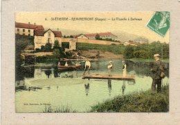 CPA -SAINT-ETIENNE-de-REMIREMONT (88) -Partie De Pêche Sur La Moselle à Bellevue Au Début Du Siècle - Carte Aspect Toilé - Saint Etienne De Remiremont