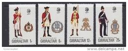 Gibraltar 1976 Uniforms 4v  ** Mnh (41449D) - Gibraltar