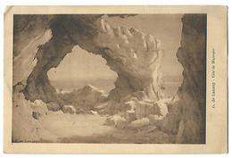 75 PARIS GALERIES G. PETIT 1927 CARTON INVITATION EXPO AQUARELLES Gve DE LAUNAY (COTE DE MAJORQUE AU RECTO) 2 SCANS - Peintures & Tableaux