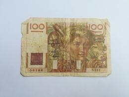 FRANCIA 100 FRANCHI - 1871-1952 Circulated During XXth