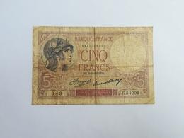 FRANCIA 5 FRANCHI 1933 - 1871-1952 Antichi Franchi Circolanti Nel XX Secolo