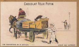 Chrome .. Chocolat Felix Potin .. Extrait De Viande .. Lles Inconvenients De La Politique  .. Chat, Cheval Livraison Jou - Chocolat