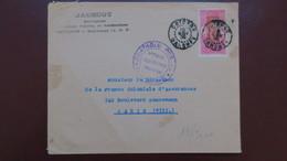 Lettre De Cotonou Dahomey Novembre 1939 Avec Censure Contrôle Postal AOF Pour Paris - Dahomey (1899-1944)