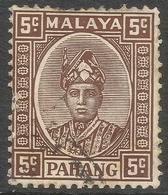 Pahang (Malaysia). 1935-41 Sultan Sir Abu Bakar. 5c Used SG 33 - Pahang