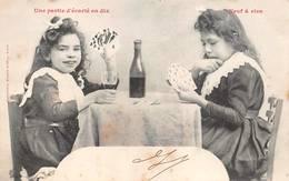 Cartes à Jouer Une Partie D'écarté En Dix Fantaisie Bergeret - Cartes à Jouer