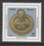 2001 Syria Tourism Day Bust Of Banias Princess Set Of 1 MNH - Syrie