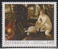 """Österreich 2015: """"Tintoretto-Susanna Im Bade"""" Postfrisch (siehe Foto/Scan) - 1945-.... 2de Republiek"""