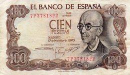 ESPAGNE / 100 PESETAS 1970 / EL BANCO DE ESPANA - [ 3] 1936-1975 : Régence De Franco