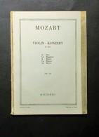 Musica Spartiti - W. A. Mozart - Violin Konzert A Dur - K.219 - Ed. Ricordi - Vecchi Documenti
