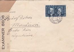 ENVELOPPE CIRCULEE 1943 LIECHTENSTEIN A ARGENTINE OPENED BY CENSOR- BLEUP - Liechtenstein