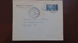 Dahomey Lettre A En Tete Biblis & Farnier Cotonou 1940 Avec Contrôle Postal Commission G Pour Paris - Dahomey (1899-1944)