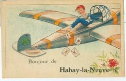 Bonjour De Habay-la-Neuve (avion) - Non Voyagé. - Habay
