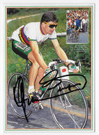 CARTE CYCLISME GIANNI BUGNO SIGNEE TEAM GATORADE 1991 - Cyclisme